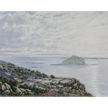 "Daniel Kendrick Texas Bluebonnets on the ""Bluffs on Lake Texoma"" 1969"