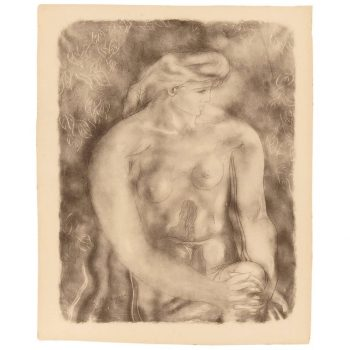 "Georges Braque Nude 1957 Collotype ""Nu Aux Feulles"""