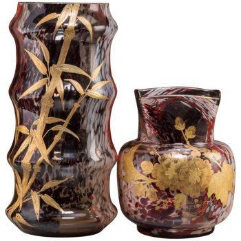Two Jean Baptiste Leveille Art Nouveau Vases, circa 1900