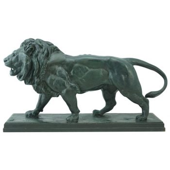 Antoine-Louis Barye Bronze Striding Lion Barbedienne, circa 1880