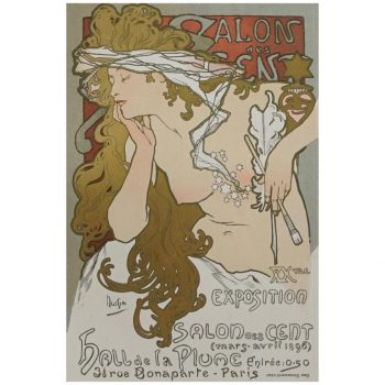 "(after) Alphonse Mucha, ""Salon Des Cent"" from Das Moderne Plakat"