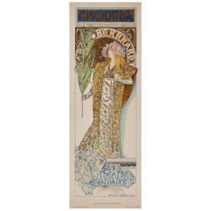 Alphonse Mucha Gismonda Sarah Bernhardt Original Lithograph, 1896