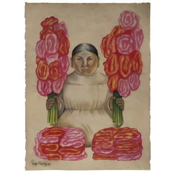 Diego Rivera Attributed Pastel and Ink on Paper Signed Dated 1928