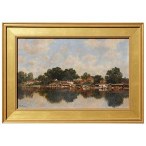 Claude Francois Auguste De Mesgrigny French Oil Impressionist Painting