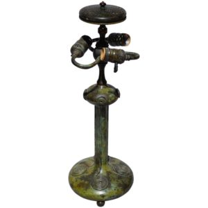 Tiffany Studios Attributed Bronze Lamp Base