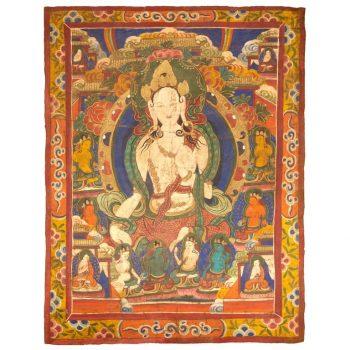 Large 19th Century Tibetan Thangka of White Tara