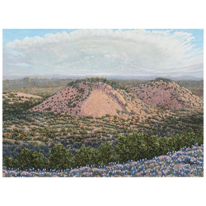 "Daniel Kendrick Texas Oil Painting ""Turkey's Peak"""