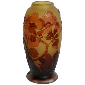 Emile Galle Window Pane Cameo Art Nouveau Vase
