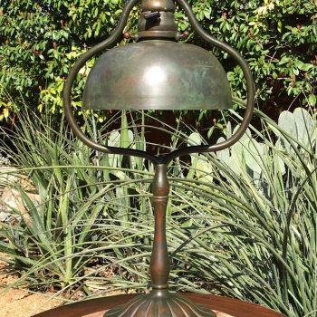 Tiffany Studios Tall Bronze Harp Table Desk Lamp New York, 1915