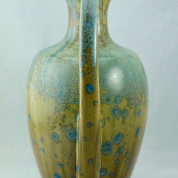 Monumental Pierrefonds French Art Nouveau Crystalline Ceramic Vase