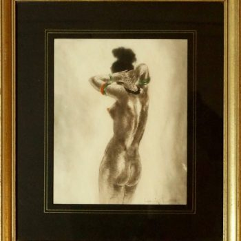 """Louis Icart Erotic Etching """"Highly Swollen Areola"""" 1945"""