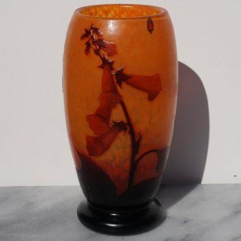 Daum Nancy French Art Deco Nouveau Cameo and Enameled Vase