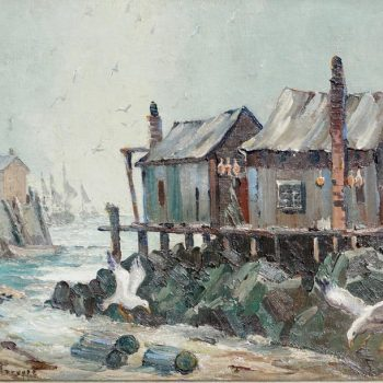 "Emile Albert Gruppe ""Rockport Mass"" Early Knife Oil Painting"