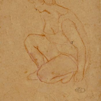 Aristide Maillol Crayon Drawing, 1910