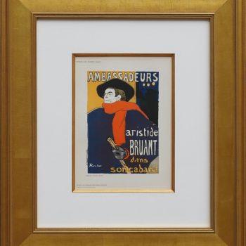 "(after) Toulouse-Lautrec, ""Ambassadeurs – Aristide Bruant"" – Das Moderne Plakat"