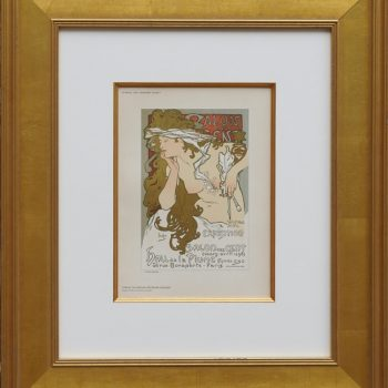 """(after) Alphonse Mucha, """"Salon Des Cent"""" from Das Moderne Plakat"""