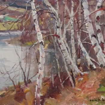 "Emile Albert Gruppe ""Birches"" Oil on Canvas, circa 1950"