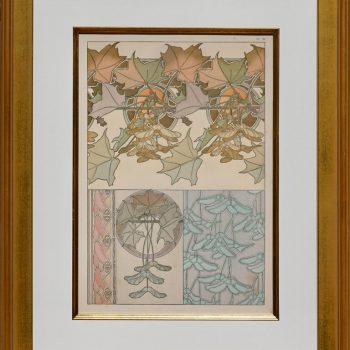 """Alphonse Mucha 1902 Lithograph """"Les Documents Decoratifs"""" PL 39"""