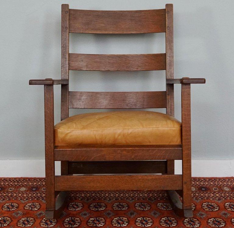 Superb Ljg Stickley Rocking Armchair Rocker 827 Creativecarmelina Interior Chair Design Creativecarmelinacom