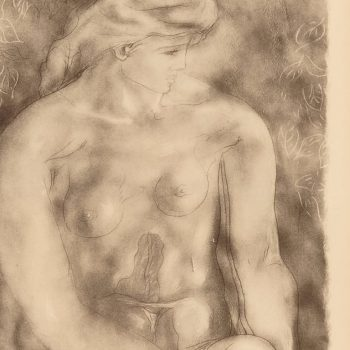"""Georges Braque Nude 1957 Collotype """"Nu Aux Feulles"""""""