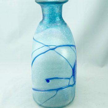 Bertil Vallien for Kosta Boda Midcentury Blue Galaxy Vase Decanter