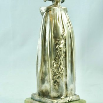 Leo Laporte Blairsy Art Nouveau Silver Overlay Bronze, 1903