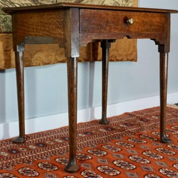 18th Century Queen Anne English Oak Lowboy