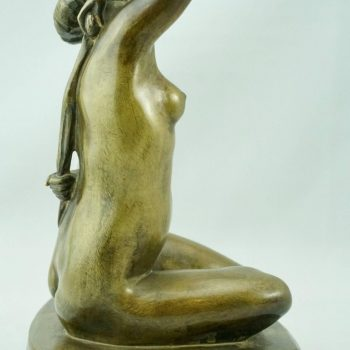 Charming French Art Deco Bronze Nude by F. Trinque, 1930
