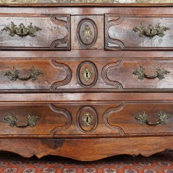 French Louis XV 18th Century Walnut Commode Chest