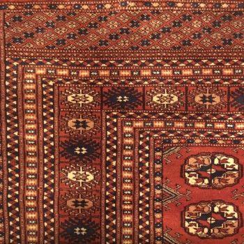 Bokhara Turkaman Tekke Handwoven Silk and Wool Rug