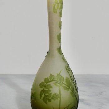 Emile Galle Art Nouveau Banjo Vase, 1900