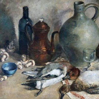 Simone Lienard Still Life Oil Painting Mid Century Nature Mort