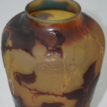 D'Argental Cameo Paul Nicolas Butterfly Carved Vase, circa 1910