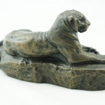 Antoine Louis Barye Panther of Tunisia by F. Barbedienne Fondeur, Paris