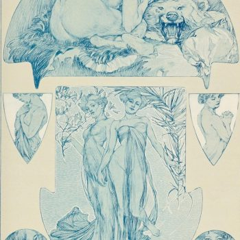 "Alphonse Mucha collotype, plate 18 from ""Figures Decoratives,"" 1905"