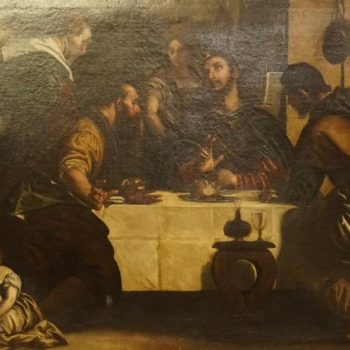 "After Paolo Caliari Veronese ""The Supper At Emmaus"" Painting"