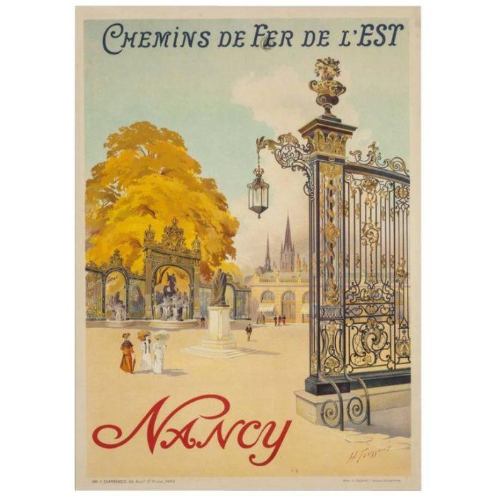 Henri Toussaint Art Nouveau French Poster, circa 1907