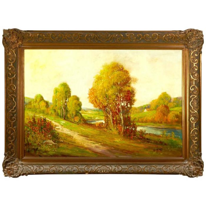 "19th Century Impressionist Barbizon Painting Signed ""Howard"""