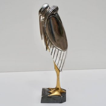 Georges H Laurent 'French, 20th Century' Art Deco Bronze Marabout, 1930