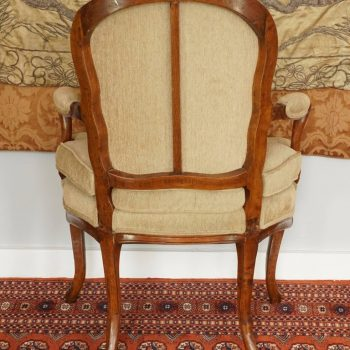 18th Century Louis XV Period Walnut Armchair Bergere