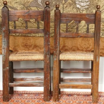 Two 17th Century Spanish Moorish Side Chairs
