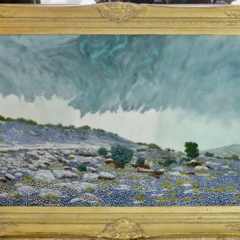 "Daniel Kendrick Texas Bluebonnets ""Take Cover"" Oil Painting"