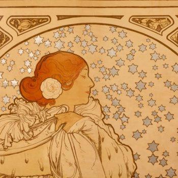 """Alphonse Mucha Poster of Sarah Bernhardt """"La Dame Aux Camelias"""" 1896"""