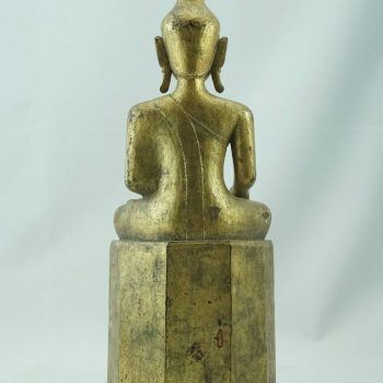 17th Century Burmese Myanmar Giltwood Buddha