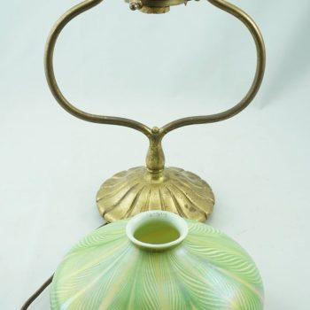 Tiffany Studios Art Nouveau Bronze and Favrile Table Lamp