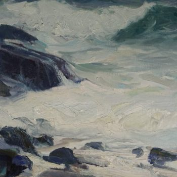 "Large Emile Albert Gruppe Bass Rocks ""After the Storm"""