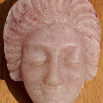 Francoise Emile Decorchemont Pate De Verre Mold of a Woman's Face