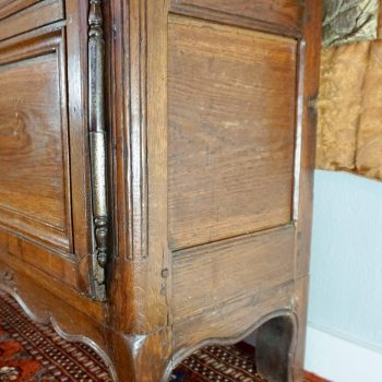 French Louis XV 18th Century Pegged Walnut Cupboard Armoire from Provence