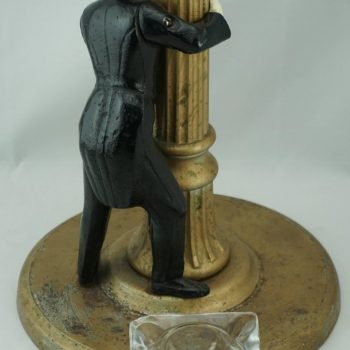 Art Deco Cigar Cast Iron Standing Ashtray, circa 1925