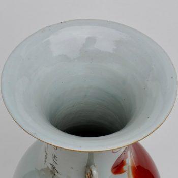 Qing Dynasty Chinese Porcelain Foo Dog Vase, 19th Century